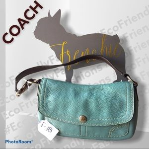 Coach Chelsea Flap Hobo Bag in Pond Blue